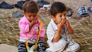 इराक़ में यज़ीदी बच्चे