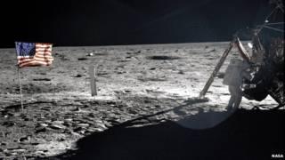 美國1969年成功登月標誌著與蘇聯太空競爭的一大勝利
