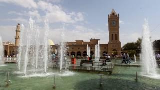 Parque en el centro de la capital del Kurdistán iraquí, Erbil