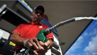 Gasolinero en Venezuela