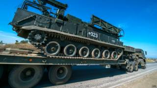 Перевозка российского танка