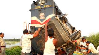 ट्रेन ऑटो दुर्घटना