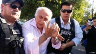 Roger Abdelmassih é preso no Paraguai | Foto: Secretaria Nacional Antidrogas do Paraguai