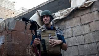 美國記者詹姆斯·福萊在敘利亞(資料照片)