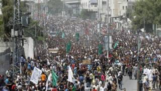 Funeral de comandantes de Hamas