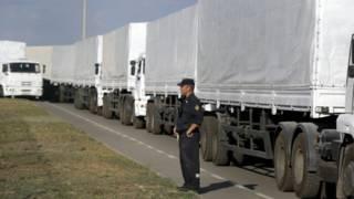 کامیونهای کمک روسیه