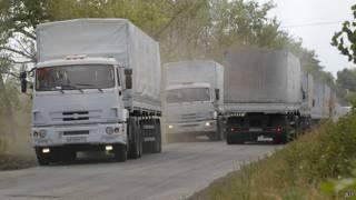 Convoy ruso en Ucrania