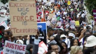Manifestación en Staten Island