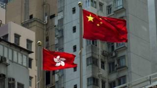 中國國旗與香港區旗(17/8/2014)
