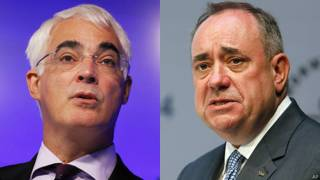 Alex Salmond y Alistair Darling