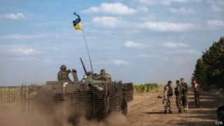 Lực lượng Ukraine gần thị trấn Rassypnoe ở miền đông