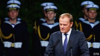 Премьер-министр Польши Дональд Туск на церемонии в Гданьске 1 сентября 2014 года