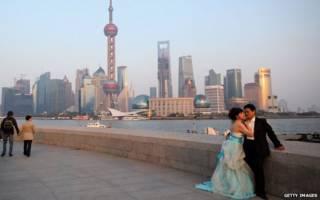 上海黃浦江邊拍結婚照