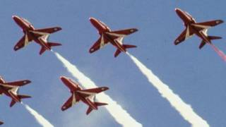 One of British Red Arrows display team.