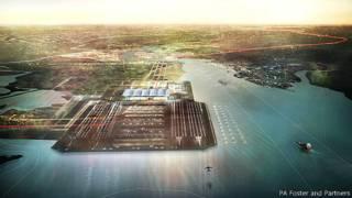 泰晤士河河口机场绘图