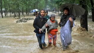 कश्मीर में आई बाढ़