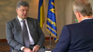 Президент України Петро Порошенко дав інтерв'ю телепрограмі ВВС HARDTalk.