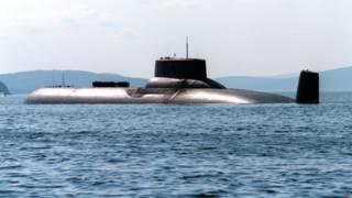 """Атомная подводная лодка """"Архангельск"""" в водах Баренцева моря"""