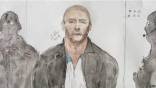 Рисунок западного заложника в руках у сирийских джихадистов