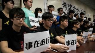 香港學聯幹事宣佈罷課方案(7/9/2014)