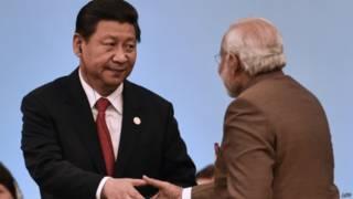 中國國家主席習近平與印度總理莫迪