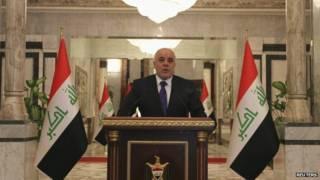 इराक़ के प्रधानमंत्री हैदर अल एबादी