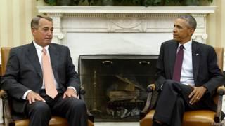 बराक ओबामा और जॉन बॉहनर