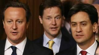Лидеры партий в Британии