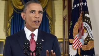 奧巴馬對全國電視觀眾發表直播講話(10/09/2014)