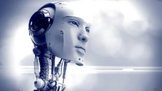 Лицо робота-гуманоида