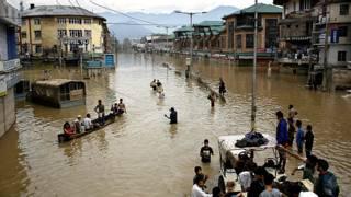 श्रीनगर में बाढ़