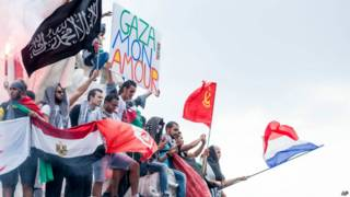 Protesto por Gaza na França (AP)