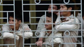 Dependentes em centro de reabilitação no Vietnã / Crédito: AFP
