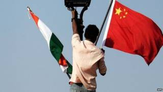Cờ Trung Quốc và Ân Độ