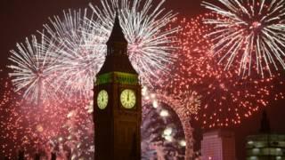 倫敦辭舊迎新新年煙花