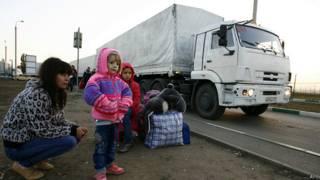 Конвой с гуманитарной помощью
