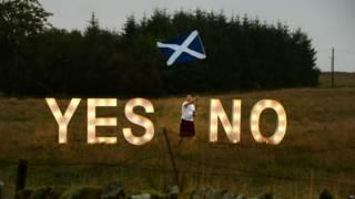 苏格兰举行是否独立的公民投票前夕最后的宣传攻势