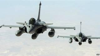 फ्रांस, हवाई हमला