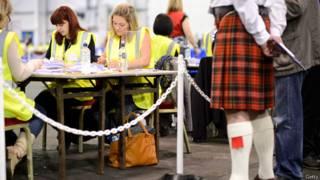 Шотландия, подсчёт голосов