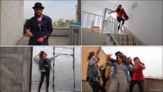 إيرانيون يرقصون على أغنية هابي
