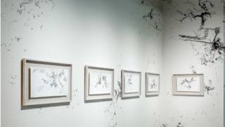 王郁媜的作品在台北双年展上展出