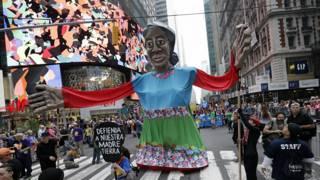 Dimanche, une manifestation s'est organisée à New-York en prélude au sommet des Nations unies sur le climat.