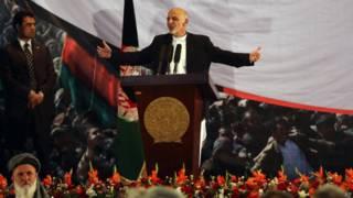 Presidente eleito do Afeganistão Ashraf Ghani (foto: AP)