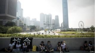 香港公民反對「假普選」方案的抗議