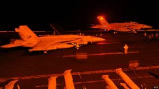 ataques aéreos nocturnos contra Estado Islámico