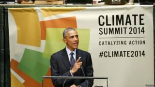美國總統奧巴馬在聯合國氣候峰會上
