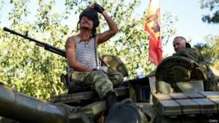 сепаратисты на танке