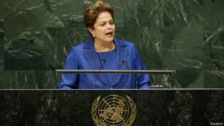 Dilma Rousseff discursa na Assebleia Geral da ONU (foto: Reuters)