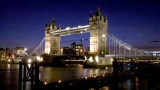 A new eco-friendly lighting system on Tower Bridge, London.