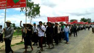 Farmers protest in Magway